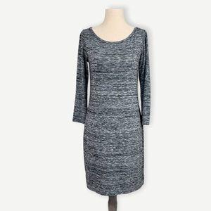 CLUB MONACO Sz S Black Heather Gray Knit Dress